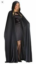 Halloween Sexy Vampire CAPE 68 INCH HOODED BLACK Witch