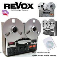 Revox PR99 tape recorder reel to reel operation instruction service manual cd