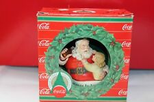 ENESCO Coca-Cola Christmas Is Love Trim-A-Tree Ornament Santa w/ Coke Girl Box