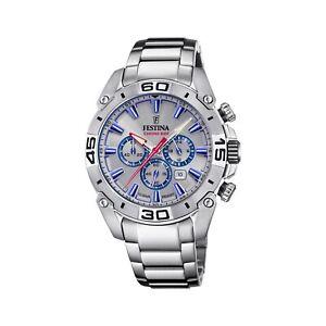 Festina F20543-1 Men's Chrono Bike Steel Bracelet Wristwatch