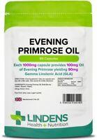 Lindens Evening Primrose Oil 1000mg 90 Capsules Brain heart eyes joint skin UK