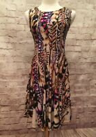 NEW Collective Concepts Stitch Fix Rodax Jersey Feather Dress Multicolor - Sz SP