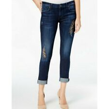 Kut From The Kloth Women's Embellished Catherine BOYFRIEND Jeans 14 Tedo
