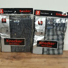 6 Pcs  KNOCKER Men's Boxers Full cut leg Open for proper fit and Easy movement