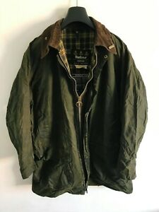 Mens Barbour Border wax jacket Dark Green coat 44 in size Extra Large / 2XL #3