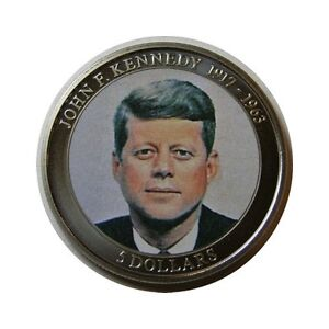 elf Liberia 5 Dollars  2006  US President John F. Kennedy