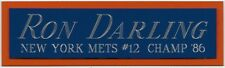 Ron Darling Mets Nameplate Autographed Signed Baseball-Jersey-Bat-Photo -Rubber