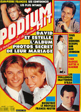 PODIUM 213 (10/89) ELSA DAVID HALLYDAY ESTELLE FRANCIS HUSTER DON JOHNSON