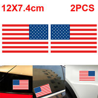 "2pcs Car American Flag Style Stickers Decals 5"" military USA US Car Accessories"