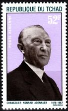 CHAD 1968 Chancellor Adenauer, Germany. In Memory. Joint Issue, MNH