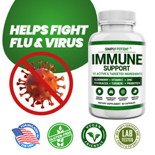 Immune Support & Immunity Booster w Elderberry Vitamin C Zinc Echinacea Turmeric