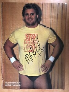 Mr. Perfect Curt Hennig Signed Autographed Magazine Photo WWF WWE WCW