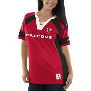 NEW Majestic Women's Atlanta Falcons Draft Me Fashion V-Neck Shirt Size 3X