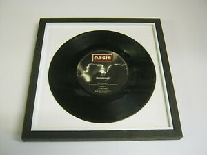"Oasis - Wonderwall - Wooden Framed 7"" Vinyl Record"