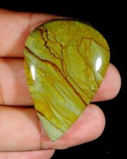 66 CT LOVELY NATURAL DESIGNER AMERICAN OWHYEE JASPER PEAR CABOCHON GEMSTONE B94