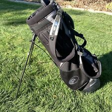 Callaway Hawk Eye Black GOLF BAG Vintage Lightweight Dual Strap Carrybag GUC
