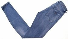 GUESS Womens Jeans W24 L30 Blue Cotton Skinny  ME06