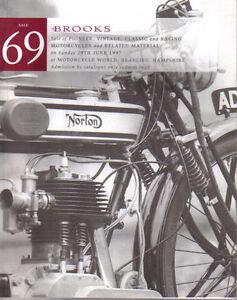 Brooks Auction Catalogue 29/06/97 Motorcycle Sale AJS James Velocette Ariel BSA