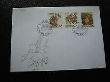 LIECHTENSTEIN - enveloppe 1er jour 7/3/1983 timbre yt n° 759 a 761 (cy35) stamp