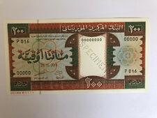 Mauritania 2001 Specimen banknote 200 Ouguiya UNC