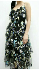 Coast Summer black Auberey EMbroidered lace cocktail  dress size 16  RRP£169