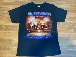 "Vintage IRON MAIDEN ""EN VIVO"" black T-shirt. Gildan Heavy Cotton. Size L"