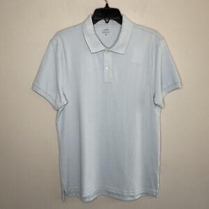 J CREW Mens Sz Medium M Flex Pique Polo Shirt NWT Sky Blue Collared Stretch