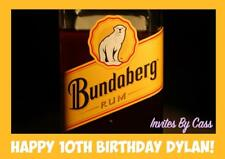 BUNDABERG RUM A4 EDIBLE IMAGE CAKE TOPPER BIRTHDAY PARTY KIDS ADULTS
