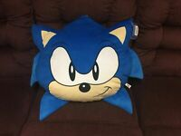 """Large Sonic the Hedgehog Face Head Pillow Plush 19"""" By 20"""" NWTs"""