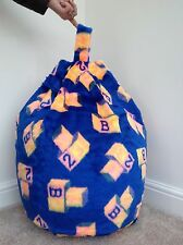 COVER ONLY Bean Bag Faux Fur 3 Cubic Ft Size LUXURIOUS Children's Blue 123 New