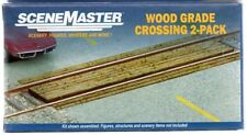 HO Scale Walthers SceneMaster 949-4158 Laser-Cut Wood Grade Crossing Kit (1) pcs