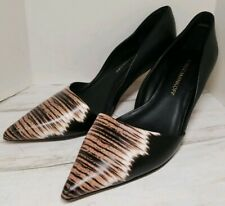 Rebecca Minkoff EUC Kalin Graphic Tiger Print Metallic Heels Women's size 6.5