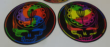 """NEW-2-Ace Your Face Stickers-4""""-Swirly & Tye Dye.  Very High Quality"""