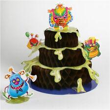 HAPPY BIRTHDAY Monster Party HONEYCOMB CENTERPIECE ~ Birthday Supplies Decorate