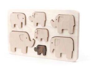 LUXURY Elephant Puzzle in Exquisite Wood - Endangered Species Range