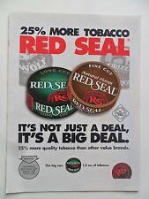2003 Print Ad Red Seal Smokeless Snuff Tobacco ~ 25% More Tobacco