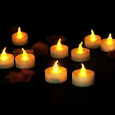 9x LED Flickering Tealights Flameless Candels Wedding Decor Battery Operated