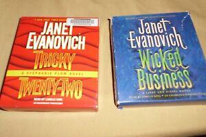 2 Janet Evanovich Unabridged CD Audiobooks  Wicked Business , Tricky Twenty-Two