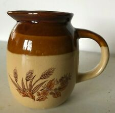 New listing Ceramic Syrup Pitcher, Two-tone Brown, Excellent Condition no chips