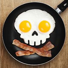 Neu Silikon Schädel Ei gebraten Mould Skull Egg Fried Shaped Mould Ring~;