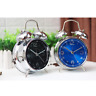 "4"" Metal Bell Alarm Clock Battery Operated Silent Sweep Kid Bedroom Desk Clock"