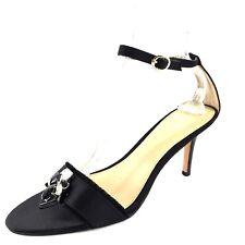 Coach Rosa Black Satin Ankle Strap Open Toe Sandals Women's Size 10 M*