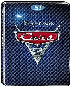 CARS 2  3D Blu ray Steelbook ( REGION FREE ) 3 Disc Set - PLEASE READ