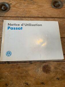 Manuel Notice D Utilisation Volkswagen Passat
