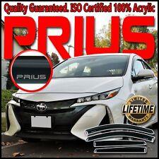 2016-2019 Toyota Prius-Prime Side Window Deflector Visors Sun Vent Shade w/ Logo