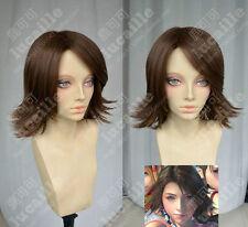 Women Short Brown Straight Hair Ladies Cosplay Final Fantasy-X 2 / Yuna Full Wig