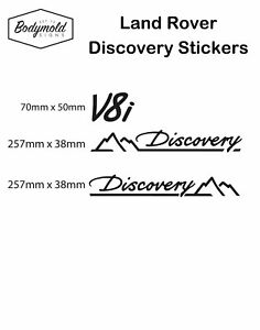 Land Rover Discovery Decal/Sticker Set Black