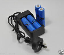 4x 3000mAh 3.7V 18650 Li-ion Rechargeable LED Flashlight Torch Battery + Charger