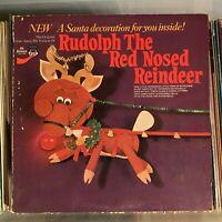 Gene Autry Original Rudolph The Red-Nosed Reindeer Christmas vinyl LP decoration