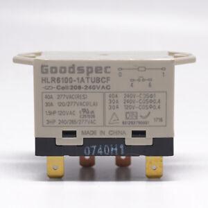 1Pc HLR6100-1ATUBCF 208-240VAC Goodspec Compressor Relay 4 Pins 40A